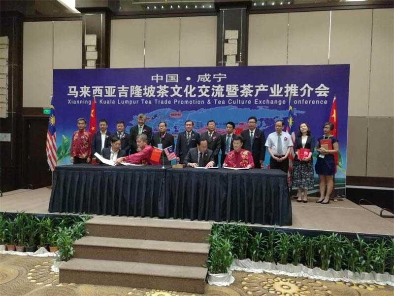湖北洞庄茶业公司与马来西亚茶商签订合作协议